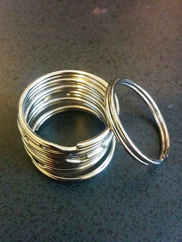 "KEY RINGS 29mm 1-3/16"" Diameter Split Ring PK OF 24"