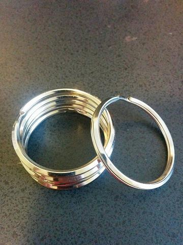 Key Rings Split Rings Heavy Duty Keychain 40mm PK of 24